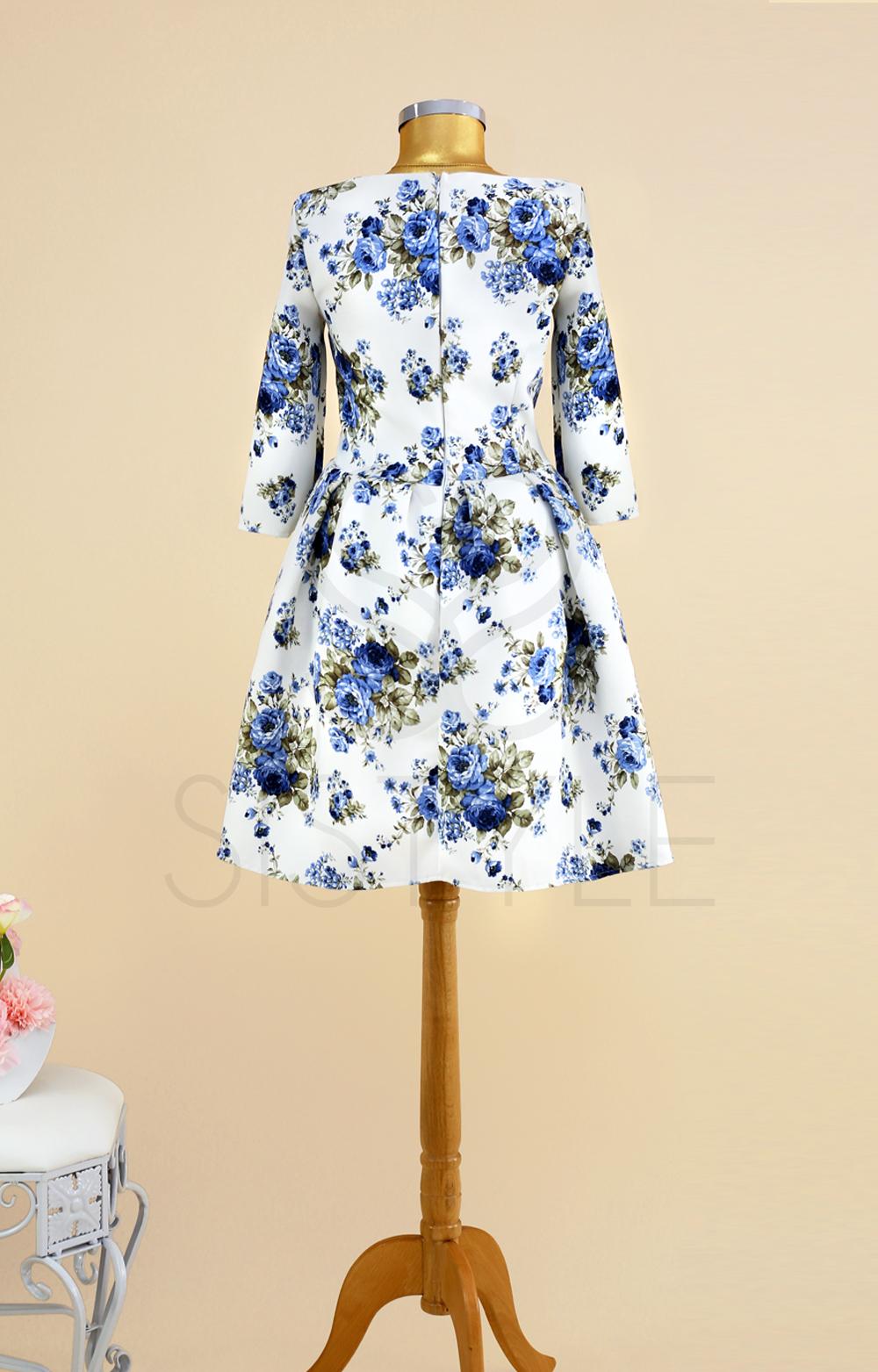 rochie cu flori
