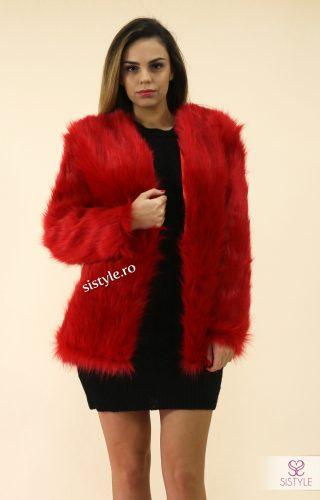 haine de blana artificiala rosie