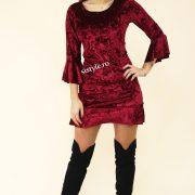 rochie de catifea bordo