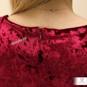 rochie de catifea cu fermoar