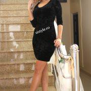 rochie de seara neagra scurta