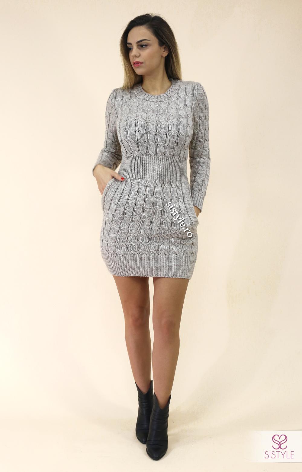 rochie-tricotata-maneca-lunga