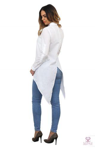 camasa alba dama spate
