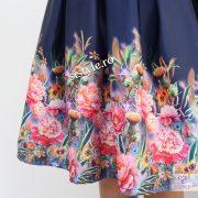 fusta flori bleumarin detaliu