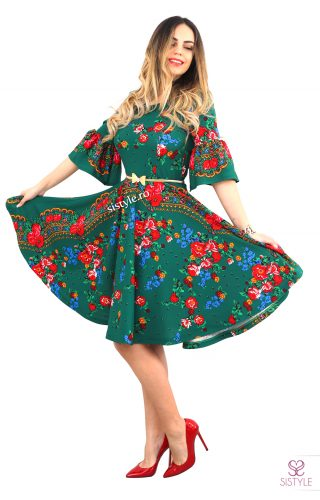 rochie lunga verde gipsy