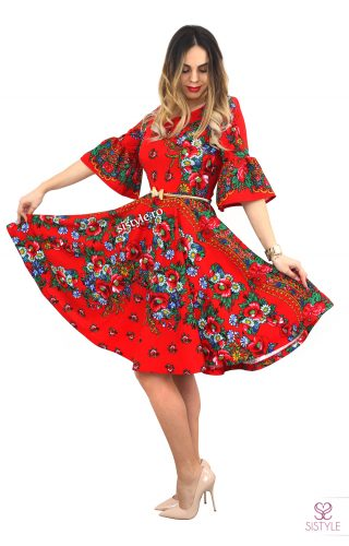 rochie tiganeasca rosie gipsy