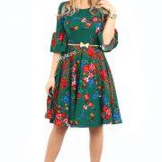 rochie verde cu flori gipsy