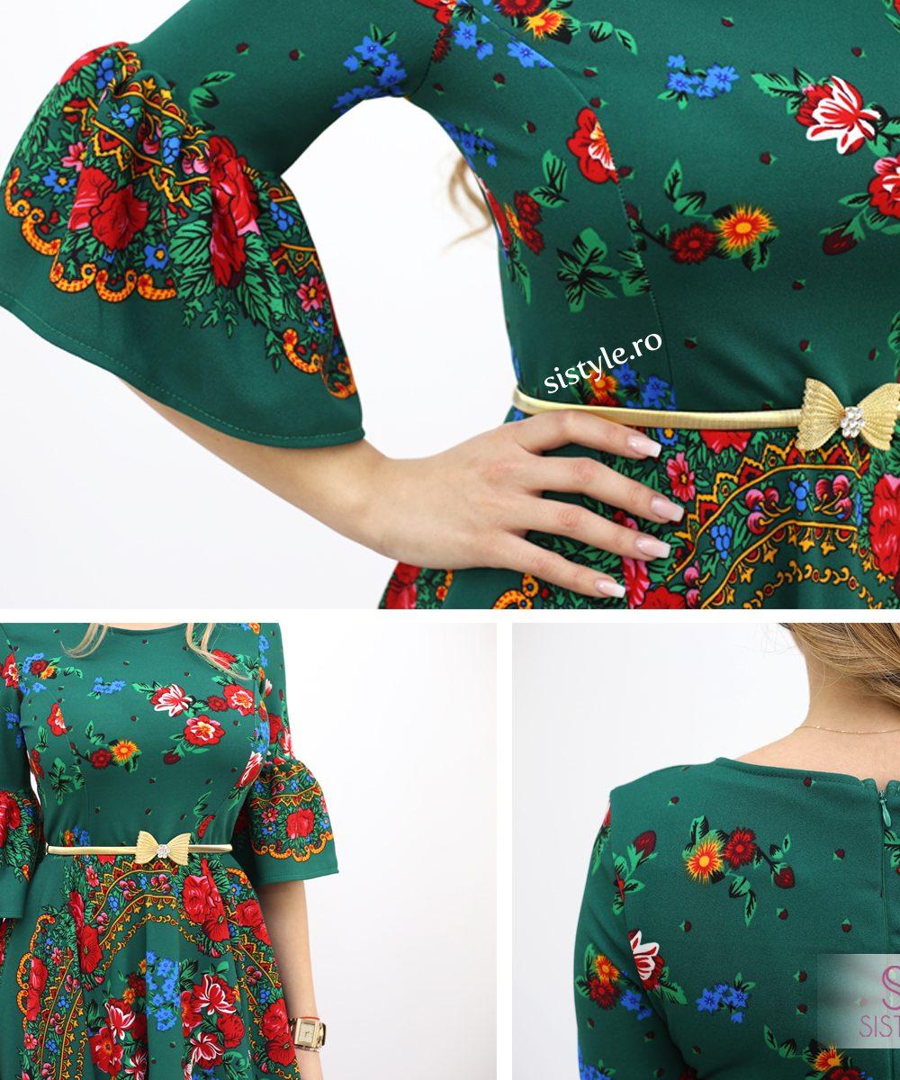 rochie verde gipsy detalii