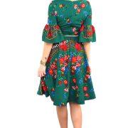 rochie verde lunga spate