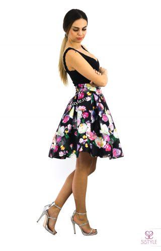 rochie cu flori neagra