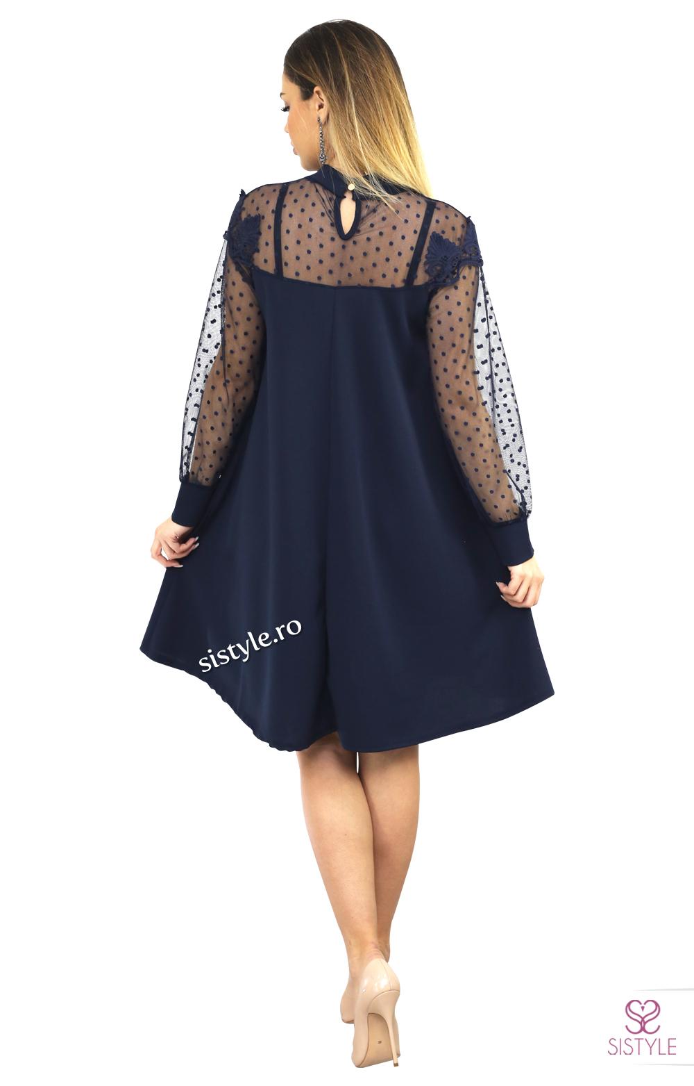 rochie cu maneci transparente