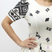 rochie de bal ivoire detaliu