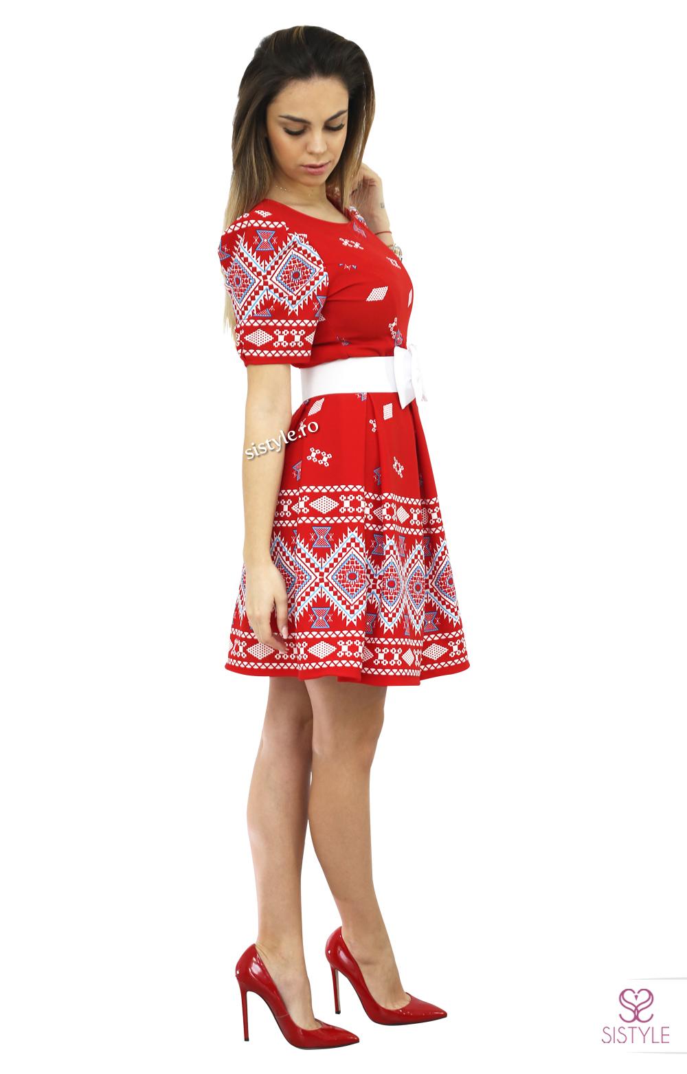 rochie de bal rosie 1