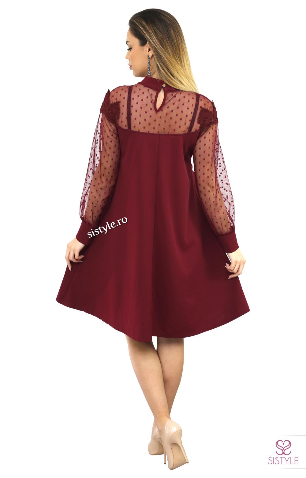 rochie de banchet grena