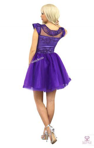 rochie de banchet mov spate