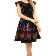 rochie de dama cu flori neagra