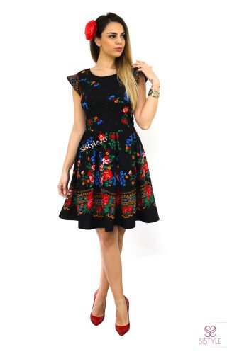 rochie de dama neagra traditionala