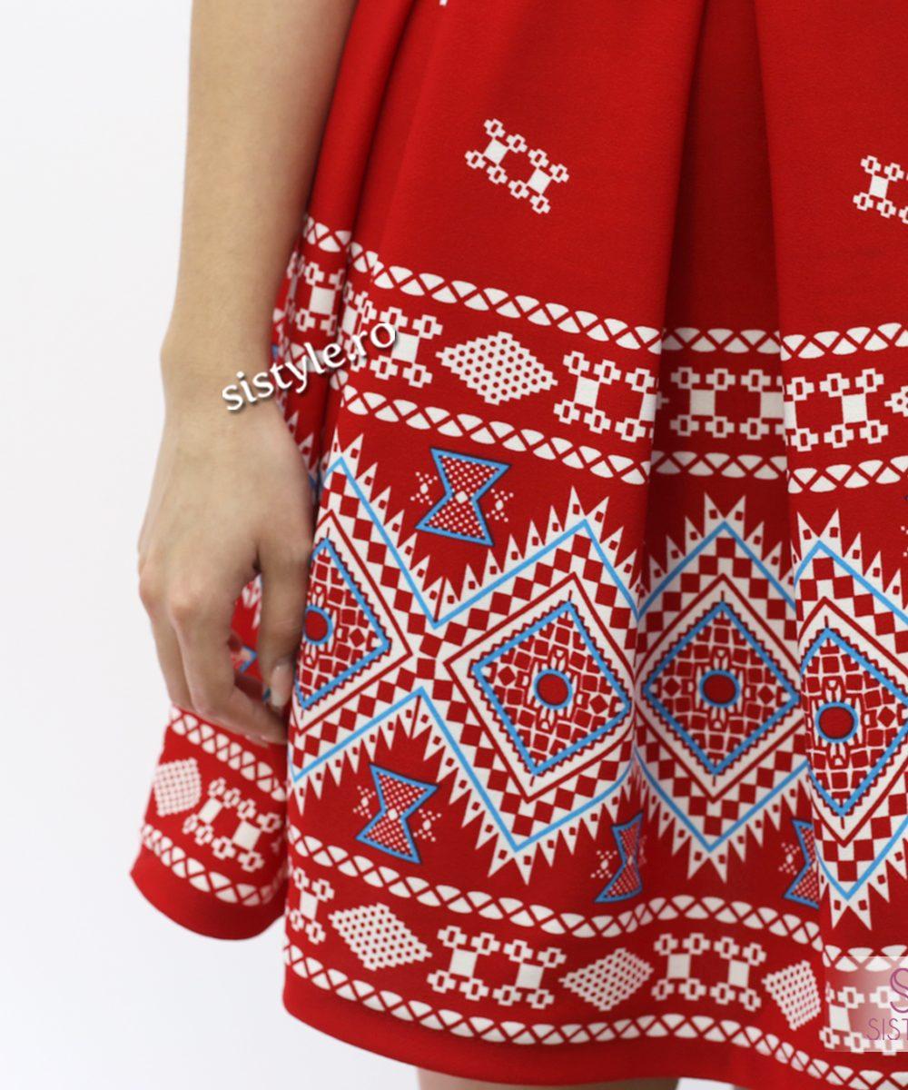 rochie de dama rosie-1