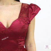rochie de ocazie grena detaliu