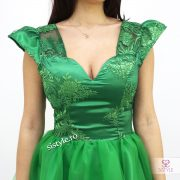 rochie de ocazie verde detaliu01