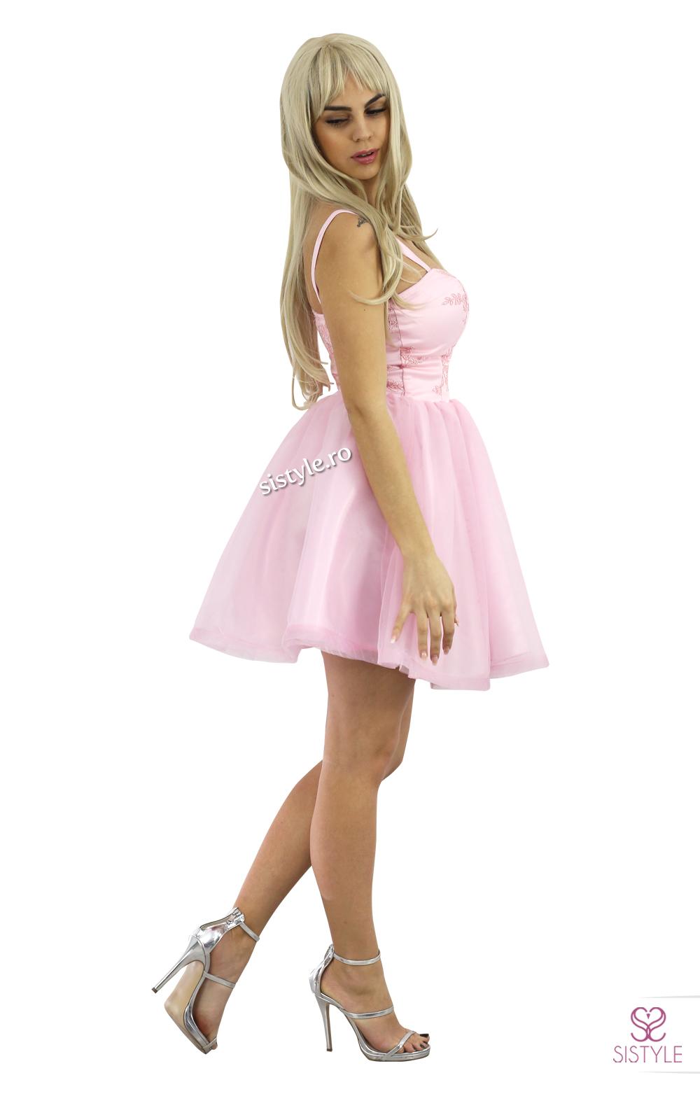 rochie de petrecere roz