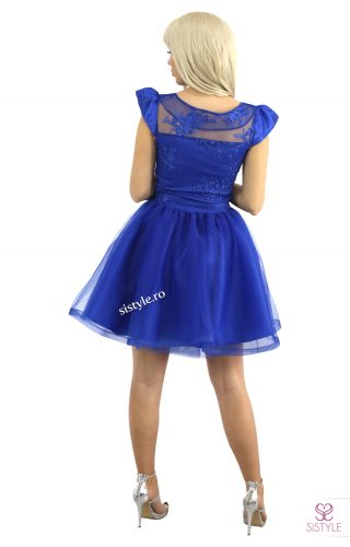rochie de seara albastra spate01