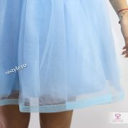 rochie de seara bleu detaliu