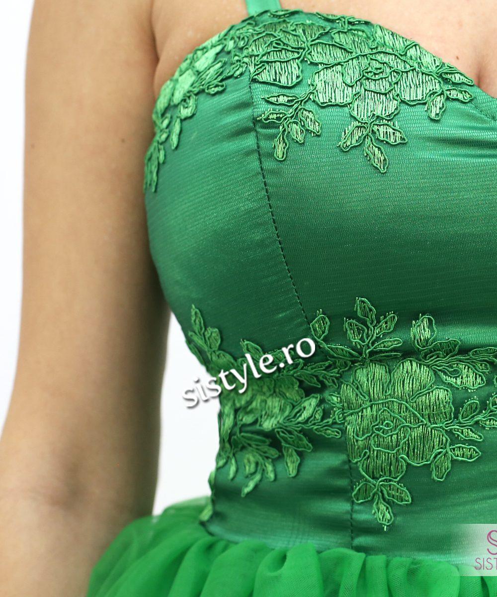 rochie de seara bust verde