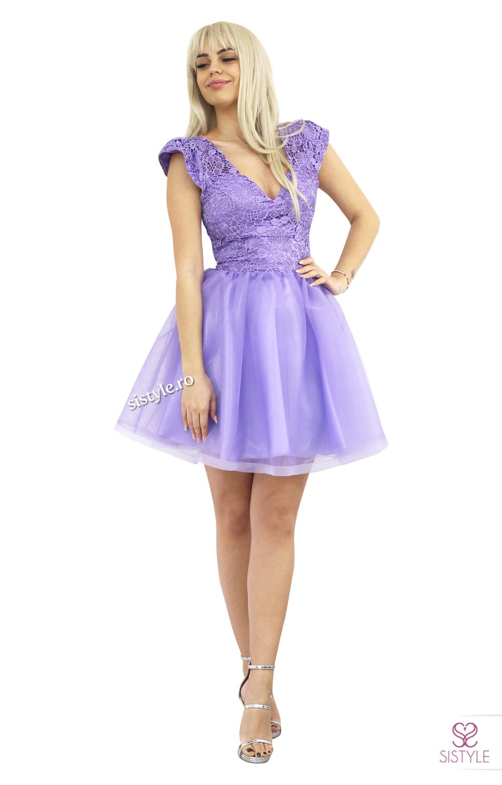 rochie de seara lila