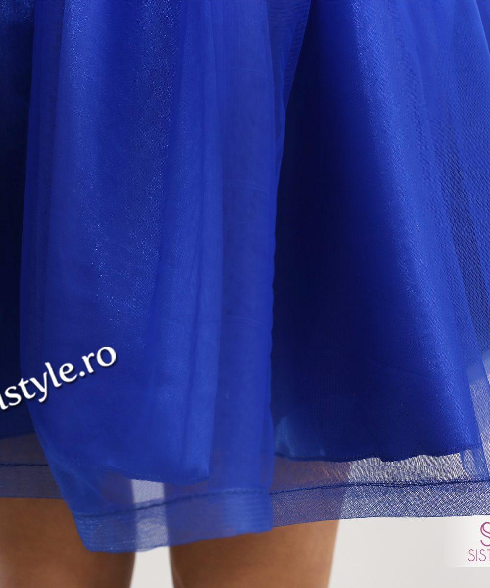 rochie de seara tull albastru