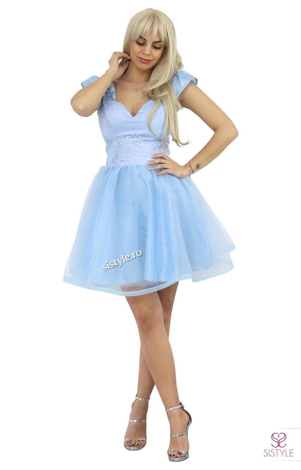 rochie de seara tull blue