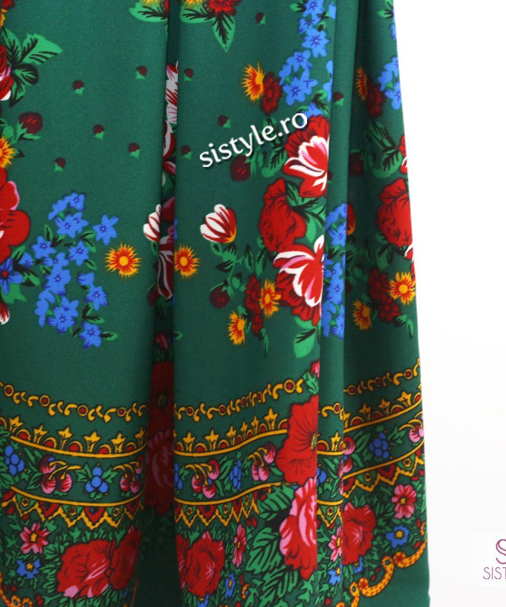rochie detaliu flori