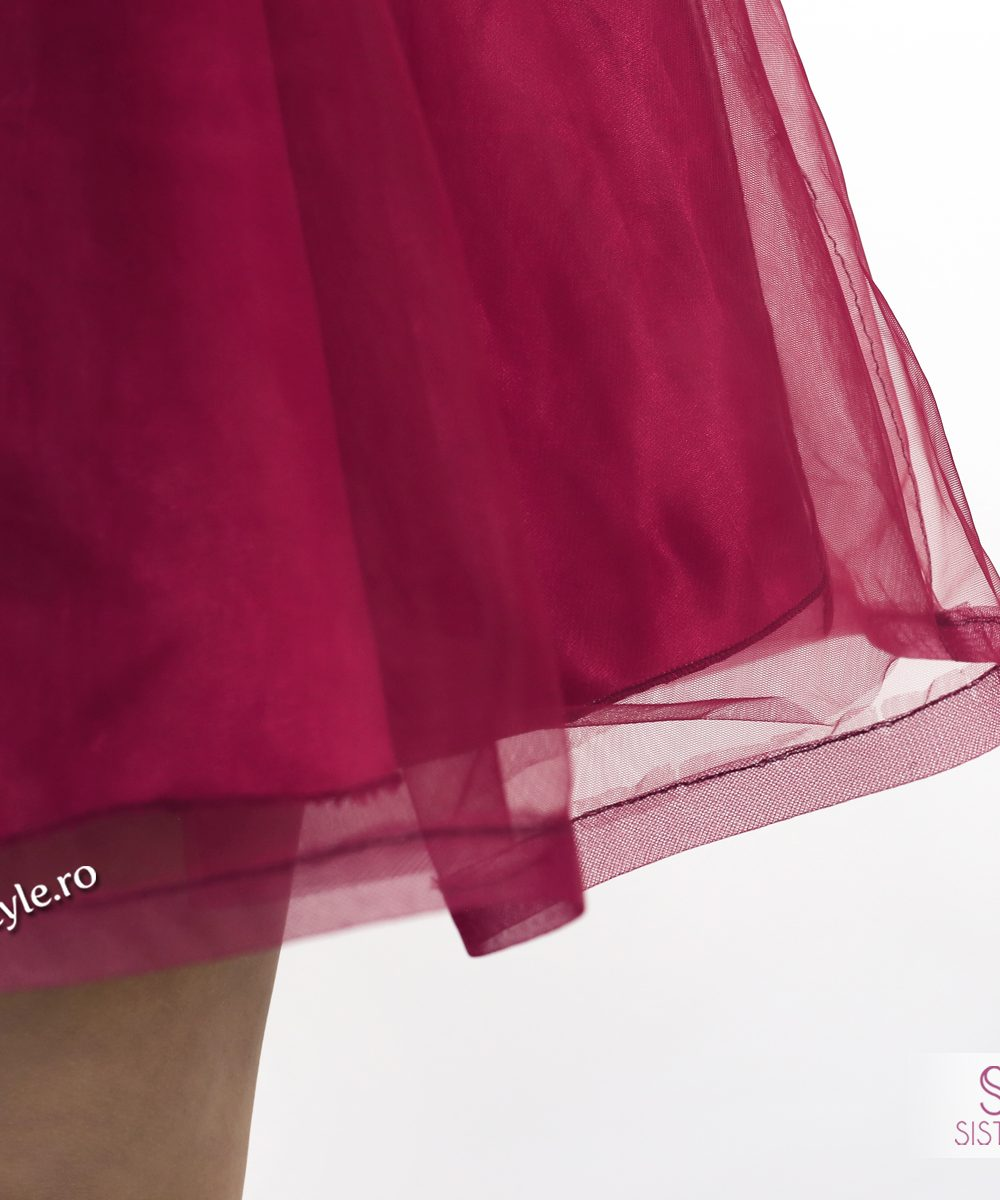 rochie scurta ocazie grena detaliu