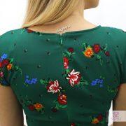 rochie verde cu fermoar