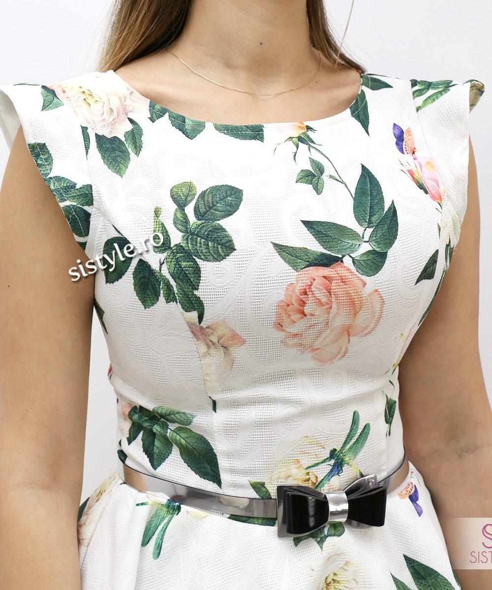 rochie alba detaliu