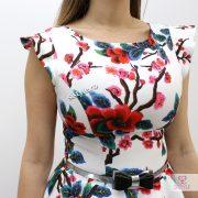 rochie alba scurta detaliu