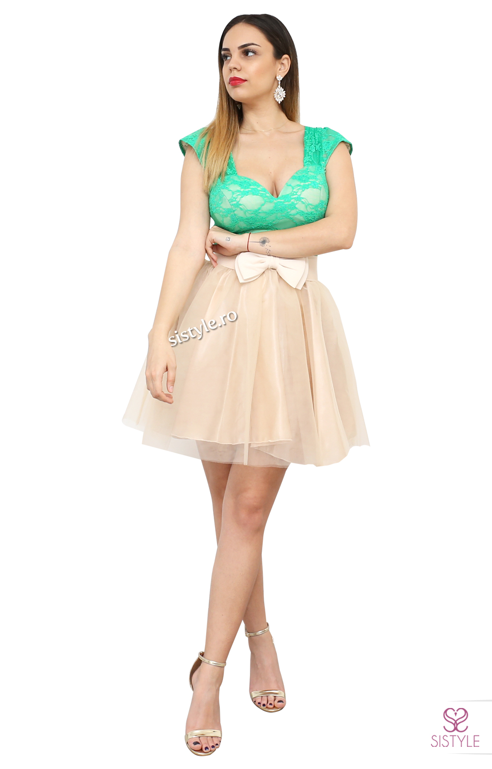 rochie banchet cu tull