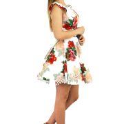 rochie cu flori rosii