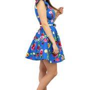 rochie cu flori scurta