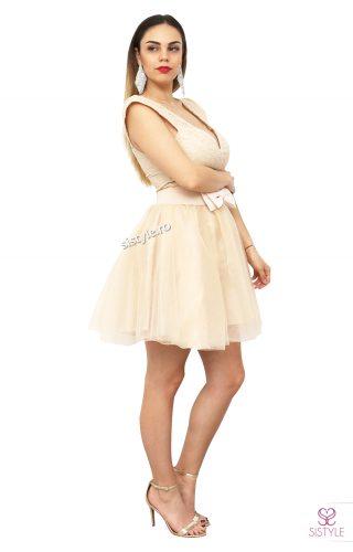 rochie de banchet bej