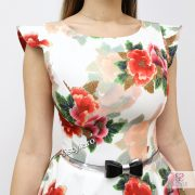 rochie de vara cu flori rosii