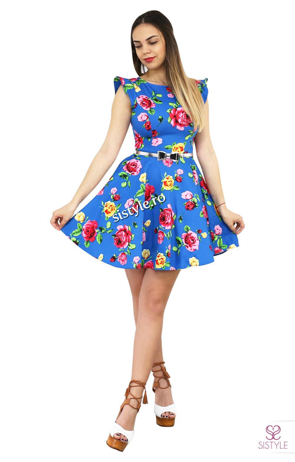 rochie de zi cu flori