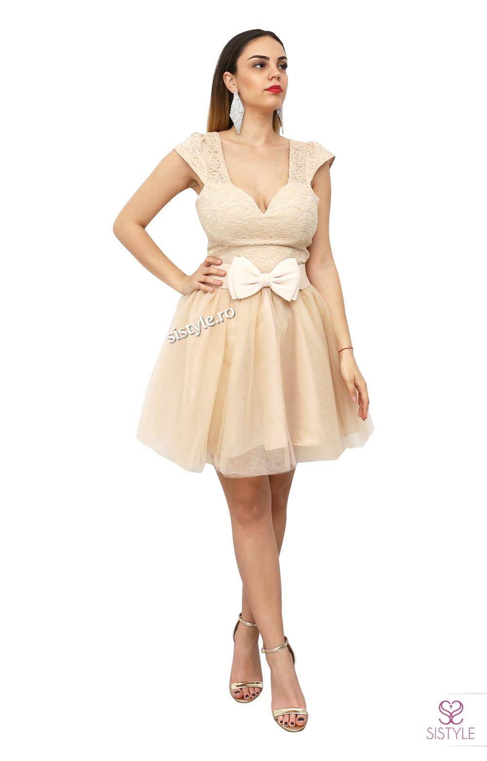 rochie pentru bachet bej