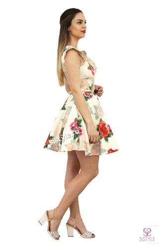 rochie scurta cu flori